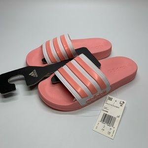 Women's Adidas Pink/White Slides without box